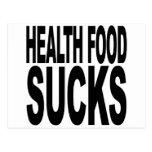 La comida sana chupa postales