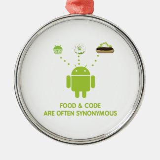 La comida y el código son a menudo sinónimos (inse ornamento de navidad