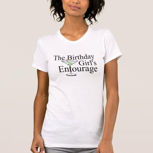 La comitiva de los chicas del cumpleaños t-shirts