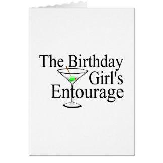 La comitiva de los chicas del cumpleaños tarjeta de felicitación