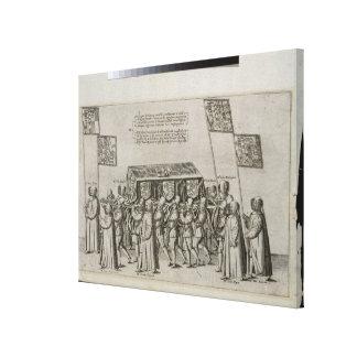 La comitiva fúnebre de sir Philip Sidney (1554-158 Lona Estirada Galerías