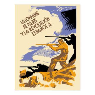 La Commune de Paris Y La Revolucion Espanola Postcard