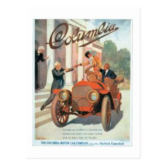 La compañía de automóviles del motor de Columbia - Tarjeta Postal