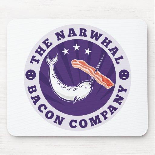 la compañía narwhal del tocino de la ballena tapete de raton