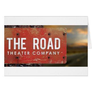 La compañía teatral del camino tarjeta de felicitación