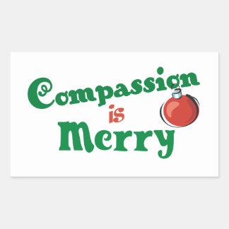 La compasión es feliz rectangular altavoces