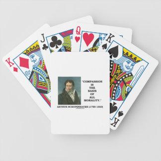 La compasión es la base de la moralidad barajas de cartas
