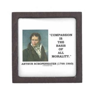 La compasión es la base de la moralidad caja de joyas de calidad