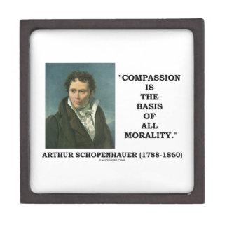 La compasión es la base de la moralidad cajas de regalo de calidad