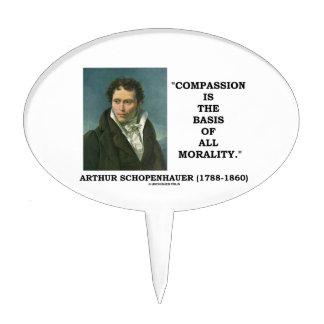 La compasión es la base de la moralidad figura de tarta