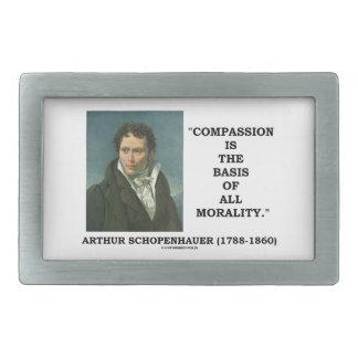 La compasión es la base de la moralidad hebillas cinturón rectangulares