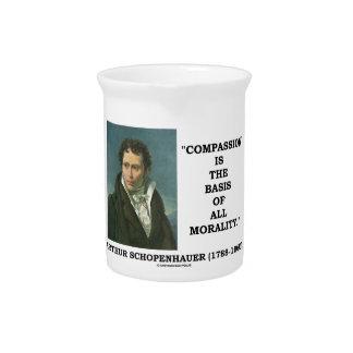 La compasión es la base de la moralidad jarra para bebida