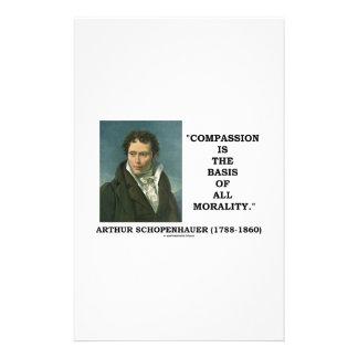La compasión es la base de la moralidad papeleria personalizada