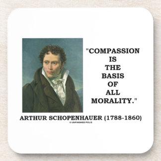 La compasión es la base de la moralidad posavasos