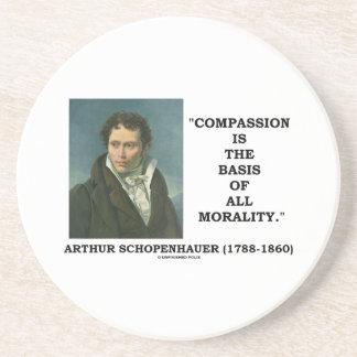 La compasión es la base de la moralidad posavasos personalizados