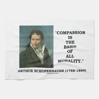 La compasión es la base de la moralidad toalla