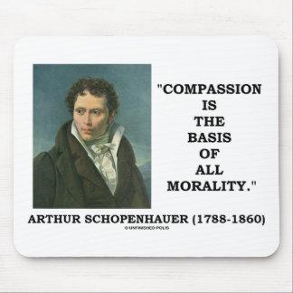 La compasión es la base de toda la cita de la alfombrillas de ratones