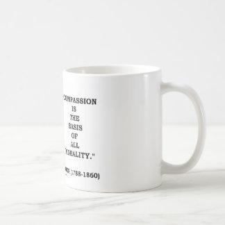La compasión es la base de toda la cita de la mora tazas de café