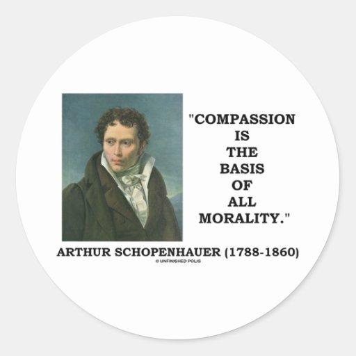 La compasión es la base de toda la cita de la etiquetas redondas