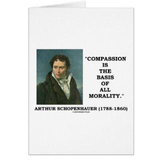 La compasión es la base de toda la cita de la tarjeta de felicitación
