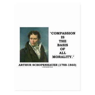 La compasión es la base de toda la cita de la tarjetas postales