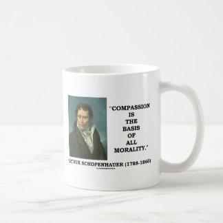 La compasión es la base de toda la cita de la taza