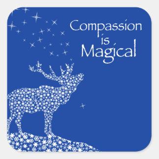 La compasión es mágica colcomanias cuadradas