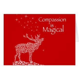 La compasión es mágica tarjeton