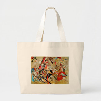 La composición abstracta de Kandinsky Bolsa De Tela Grande