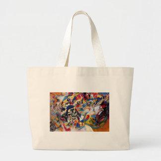 La composición VII de Kandinsky Bolsa De Tela Grande
