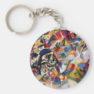 La composición VII de Kandinsky Llavero Redondo Tipo Pin