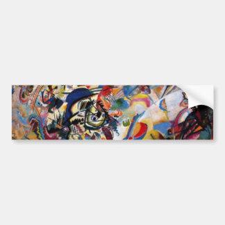 La composición VII de Kandinsky Pegatina Para Auto