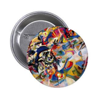 La composición VII de Kandinsky Pin Redondo 5 Cm