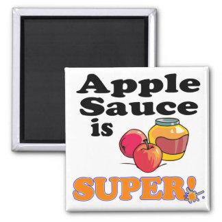 la compota de manzanas es estupenda imán cuadrado