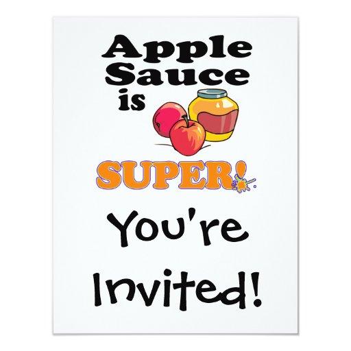 """la compota de manzanas es estupenda invitación 4.25"""" x 5.5"""""""