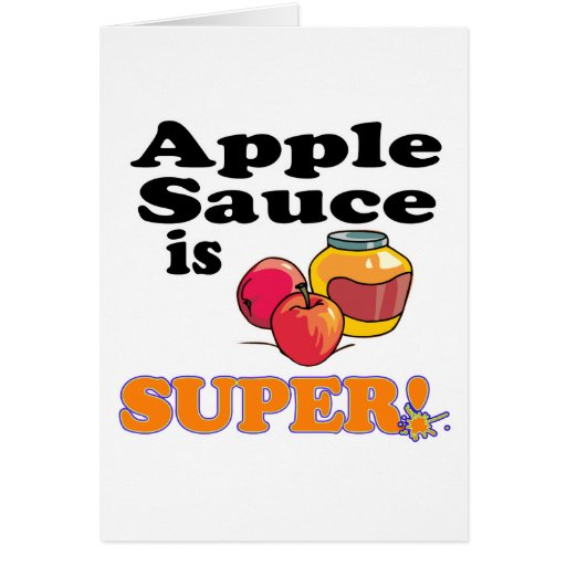 la compota de manzanas es estupenda tarjetas