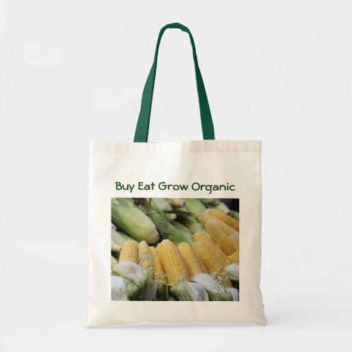 La compra come crece el bolso orgánico bolsas de mano