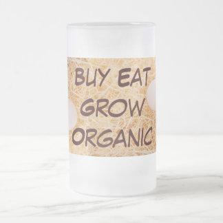 La compra come crece la taza orgánica