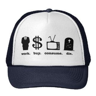 la compra del trabajo consume muere gorras