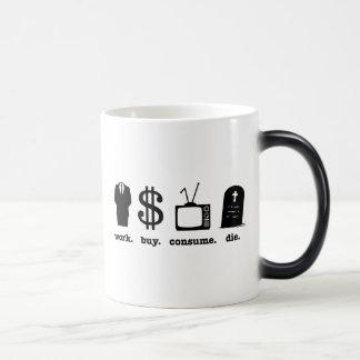 la compra del trabajo consume muere taza mágica