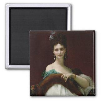 La Comtesse de Keller, 1873 2 Inch Square Magnet