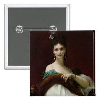 La Comtesse de Keller, 1873 Pin Cuadrada 5 Cm
