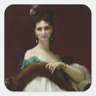 La Comtesse de Keller, 1873 Square Sticker