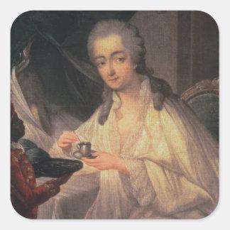 La Comtesse du Barry (1743-93) (aceite en lona) Pegatinas Cuadradas Personalizadas