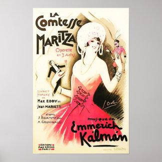 La Comtesse Maritza Vintage Advert Poster