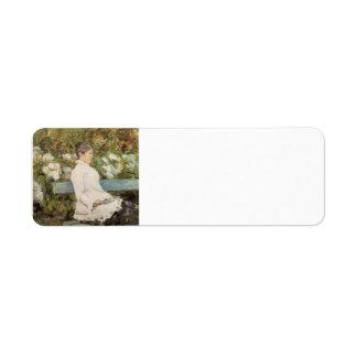 La Comtesse Toulouse Loutrec de la Lautrec-Señora  Etiquetas De Remite