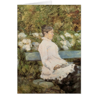 La Comtesse Toulouse Loutrec de la Lautrec-Señora  Tarjeta De Felicitación