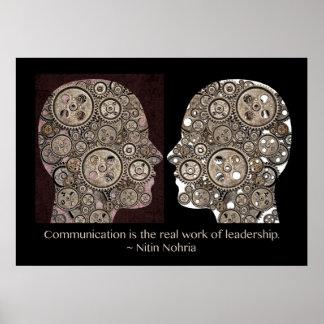 La comunicación es el trabajo de verdad de la dire póster