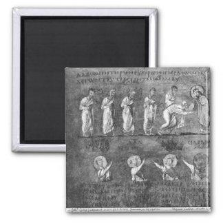 La comunión de seis apóstoles imán para frigorifico