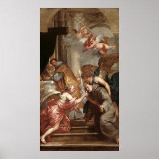 La comunión de St Bonaventure Póster